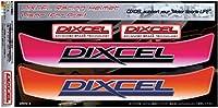 DIXCEL ディクセル ヘルメットバイザー ステッカー ピンク/オレンジ