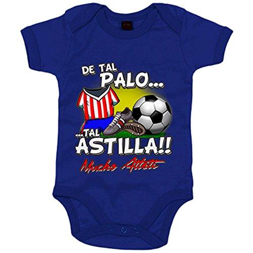 Body bebé De tal palo tal astilla Atlético fútbol Atleti - Azul Royal, 6-12 meses