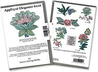 Applique Elegance 6x10 Design CD by Laura's Sewing