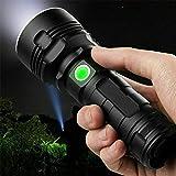 30000-100000 Lumen High Power LED Waterproof Flash Light Lamp Ultra Bright, 3000 mah Double lithium battery (50W XLM-P70, Double lithium battery)