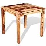 """vidaXL Dining Table,Kitchen Dining Room, for Placing Your TV or displaying Decorative Items Like Photo Frames, Fruit Baskets and vases,Solid Sheesham Wood, 32.3""""x31.5""""x30"""""""