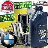Kit révision 6 l Huile Moteur B M W + filtres Mann pour 1 (F20) 125 d - 1 (F20) 120 d -1 (F21) 118 d xDrive 3 (F30, F35, F80) 320 d1 (F20) 118 d 1 (F20) 116 d