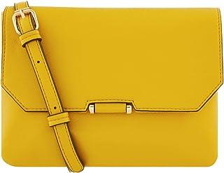 حقيبة طويلة تمر بالجسم للنساء من اكسيسورايز - اصفر