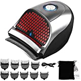 Hair Clippers for Men, Cordless Electric Hair Trimmer Professional Hair Cutting Machine Shortcut Self Grooming Haircut Kit with 9 Combs, USB Cable, Cleaning Brush, Storage Pouch