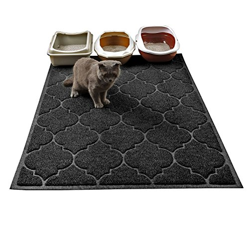 Cat Litter Mat, XL Super Size, Phthalate Free, Easy to Clean, 46x35 Inches, Durable, Soft on Paws, Large Litter Mat.