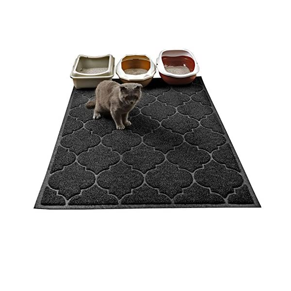 Cat Litter Mat, XL Super Size, Phthalate Free, Easy to Clean, 47×36 Inches, Durable, Soft on Paws, Large Litter Mat.
