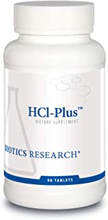 HCl-Plus™ from Biotics Research, Supplies Betaine Hydrochloride, Pepsin, Glutamic Acid and More. Supports H...