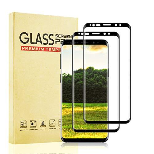 [2 Piezas] Protector de Cristal Templado para Samsung Galaxy S8, Protector Pantalla para Samsung Galaxy S8 Vidrio Templado con Dureza 9H, Alta Transparencia, Sin Burbujas