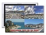 GoPukka - Imán para Nevera de Recuerdo, Benalmadena Costa del Sol España, plástico, Standard: 70x45mm