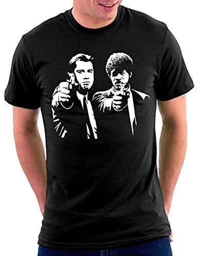 Million Nation Pulp Fiction T-shirt, Schwarz, L