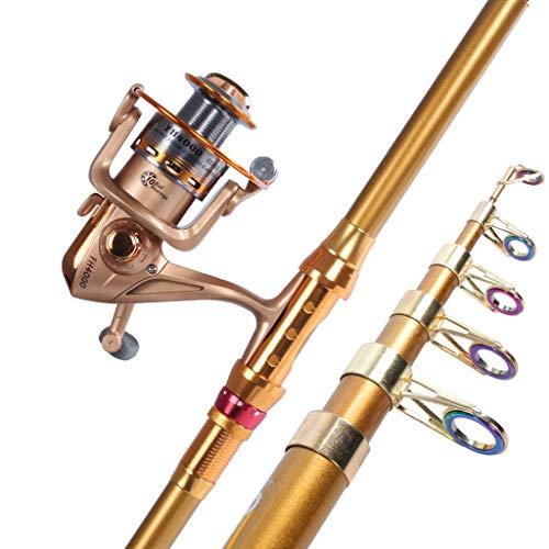WENMENG2021 Teleskop-Angelruten Werfen Sea Rod Rod Seerod Angelrute Set Kombination vollen Satz von Super Hard Long Shot Sea Angelrute Angelrute Rod Wurf Reise Angelrute (Size : 3.0meters)