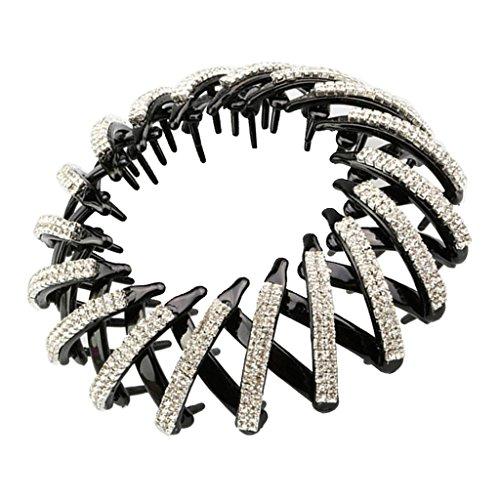 MagiDeal Haar Zopf Pferdeschwanz Halter Stretch Band Kristall Haarspangen - Mode Schmuck - Farbe 1