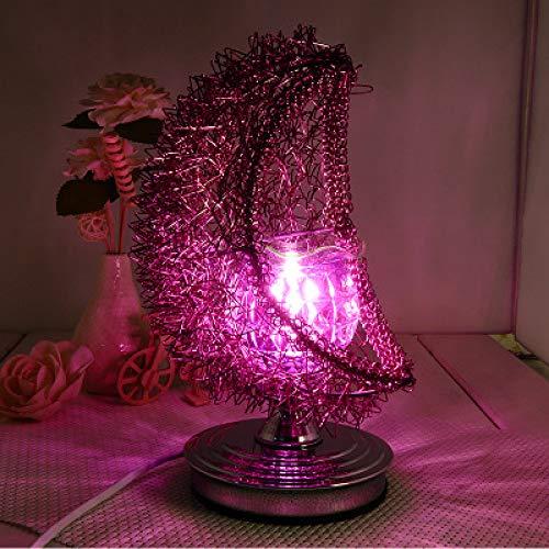 Nueva Lámpara De Fragancia Romántica De Hierro Forjado Festival De Toque Creativo Lámpara De Inducción Dormitorio Luz Nocturna Morado 175 * 175 * 260 Mm