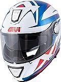 GIVI HX23FPTBW63 Casco, Blanco/Azul/Rojo, XXL