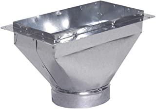 Master Flow 12 in. x 6 in. to 6 in. Universal Register Box with Flange