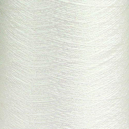GARBO Subtly-Iridescent White Embroidery Thread, 3050 Yard Spool