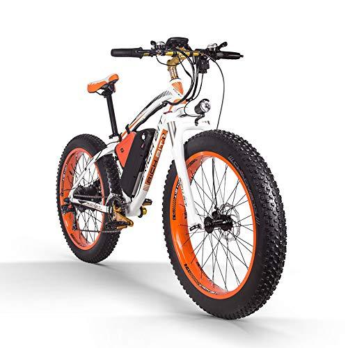 Top 022 E Bike Pedal Assist Electric Snow Bike per Adulti, Ruota da 26 Pollici Motore da 1000 W Batteria al Litio da 48 V, Display LCD per Bici con Freno a Disco Shimano (in Europa)