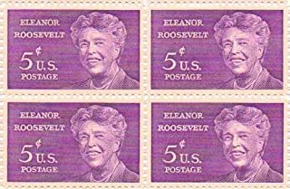 Eleanor Roosevelt Set of 4 X 5 Cent Us Postage Stamps Scot #1236a by U.S. Mail