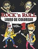 LIBRO DE COLOREAR ROCK N ROLL: Un libro para colorear para adultos sobre la MÚSICA DEL ROCK & ROCKSTAR - para los fans del rock, hard rock y metal - dibujos exclusivos (libro de colorear - música)