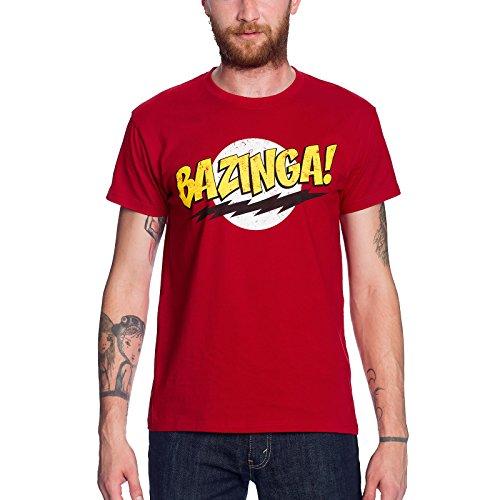 Big Bang Theory - Camiseta Bazinga para fans de Sheldon -Color rojo - L