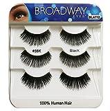 Broadway Eyes Black Strip False Eyelash Trio Pack 100% Human Hair #38K BLAT12