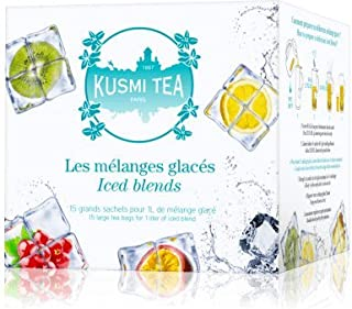 Kusmi Tea - Iced Blends - Assorted Tea Gift Box of Our Best Iced Tea Blends Including Icy Grapefruit, Blue Ice, AquaRosa & More! - 15 Large Eco-Friendly Tea Bags of Premium Iced Tea Blends