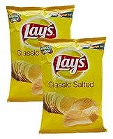 Lays Classic Salted Chips, 52 gram- India, Pack of 2 - 並行輸入品 - ロード・クラシック・塩チップ、52グラム、インド、2パック