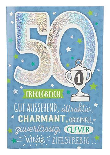 Depesche 5698.066 - Glückwunschkarte mit Musik, 50. Geburtstag
