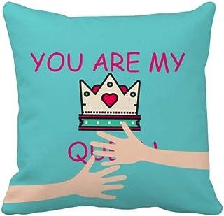 OFFbb-USA My Queen Royal Regina Majesty Hug - Funda de almohada cuadrada