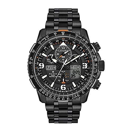 Citizen Reloj de Hombre Cuarzo Correa y Caja de Acero dial Negro JY8075-51E