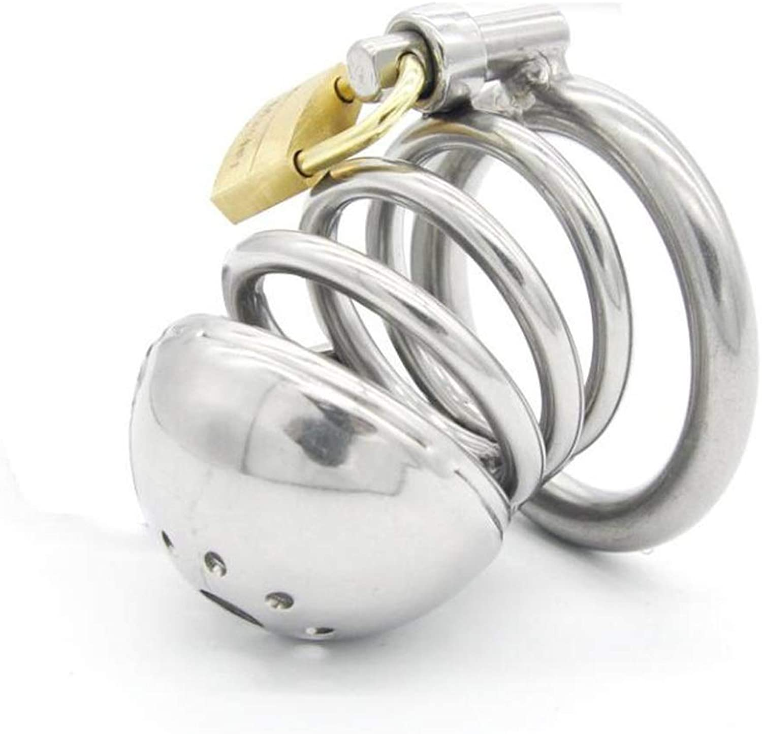 CJH Male Chastity Lock Stainless Steel Chastity Cage Penile Lock