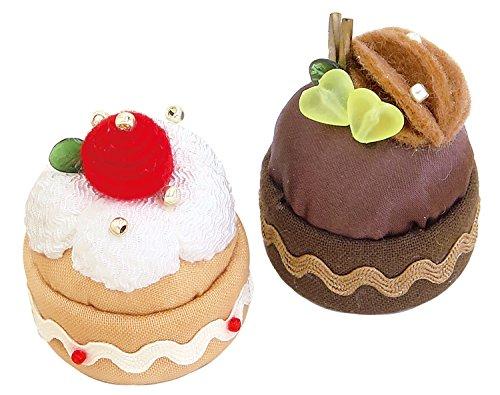 オリムパス製絲 手芸キット スウィーツマグネット いちごのケーキとチョコケーキ PA-726