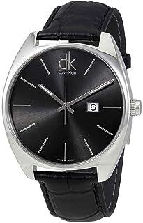 ساعة اكستشنج للرجال من كالفن كلاين - بعرض انالوج وسوار جلد - K2F21107