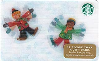 スターバックス スタバ カード 2016 ホリデー42 ㉓『スノーエンジェルを作ろう!』北米版