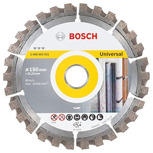 Bosch Professional Diamanttrennscheibe Best für Universal, 150 x 22,23 x 2,4 x 12 mm, 2608603631