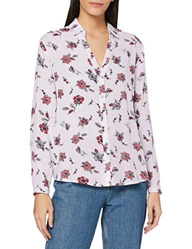 ESPRIT Damen 998EE1F805 Bluse, Mehrfarbig (Lilac 560), 34