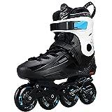 Patines en línea agresivos, protección triple de seguridad, patines para adultos, soporte de aleación de aluminio grueso adecuado para deportes al aire libre(Size:11 /(28CM) /42)
