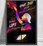 Cartel de arte Avicii DJ music singer estrella leyenda póster e impresión mural lienzo pintura decoración del hogar 42x60cm sin marco