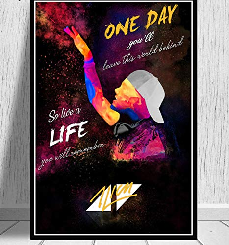 NVRENHUA Kunst Poster Avicii DJ Musik Sänger Star Legende Poster und Druck Wandbild Leinwand Gemälde Home Decoration 42x60cm Rahmenlos