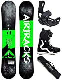 Airtracks Snowboard Set/Board Breath Wide Flat Rocker 152 + Snowboard Bindung Master + Boots Strong QL 44 + Sb Bag