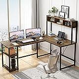 Sedeta 70 Inch L Shaped Desk with Hutch, Large Corner Computer Desk, Home Office...