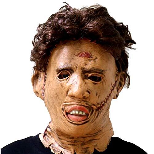 TINGSHOP Vollmaske, Kettensäge Killer Maske Halloween Cosplay Horror Scary Movie Charakter Erwachsene Cosplay Kostüm Requisiten Spielzeug Kostüm Party Und Film Prop