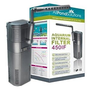 All Pond Solutions 450IFAquarium Internal Filter, 450 Litre/ Hour