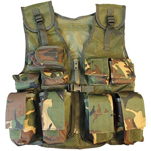 Kombat UK Chaleco de asalto militar para niños, camuflaje DPM, talla única