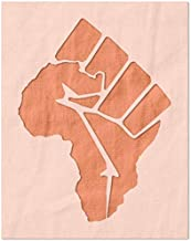 Stencil Stop BLM Africa Outline Stencil - Reusable for DIY Projects, Painting, Drawing, Crafts - 14 Mil Mylar Plastic (6.75 x 9 inches)