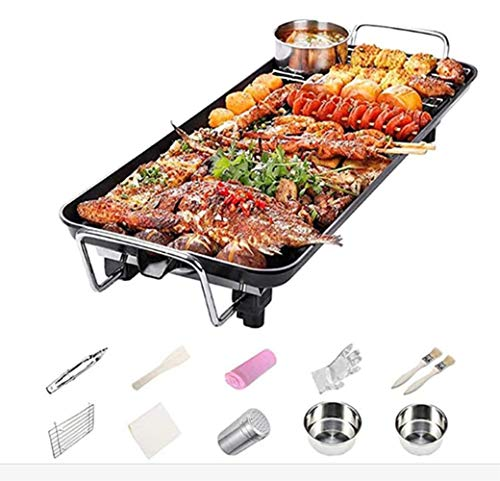 Smokeless BBQ Grill Set Indoor Teppanyaki-Grill Table Top Grill Non-Stick Barbecue Teller,L