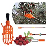 Librae 1 Pc 2088cm White/Orange Plastic Fruits Picking Tool Without Pole Practical Convenient Durable Horticultural Fruit Picker