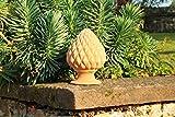 Kreta-Keramik, hochwertige Terrakotta Pinienzapfen, 45 cm, frostfest mediterrane Deko Außenbereich Garten