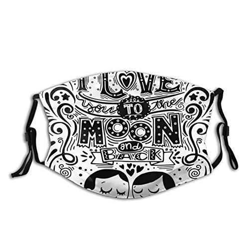 FULIYA Winddichte Maske Waschbar Mundschutz,Love Bugs Hugging Eyes Closed Ancient Relationship Feeling Connected Artwork,Mehrweg Atmungsaktiv Stoff Bandana Halstuch Tuch|Mund und Nasenschutz