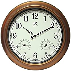 Infinity Instruments Craftsman Wall Clock, 18 inch, Copper